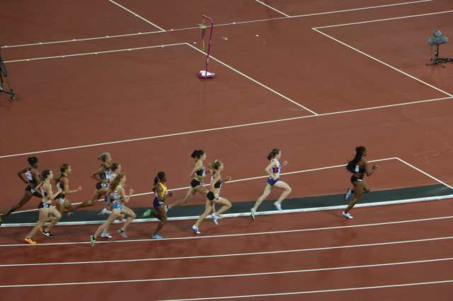 Britain's Laura Muir on her way to winning the 1500m.